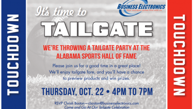 Tailgate October 22!